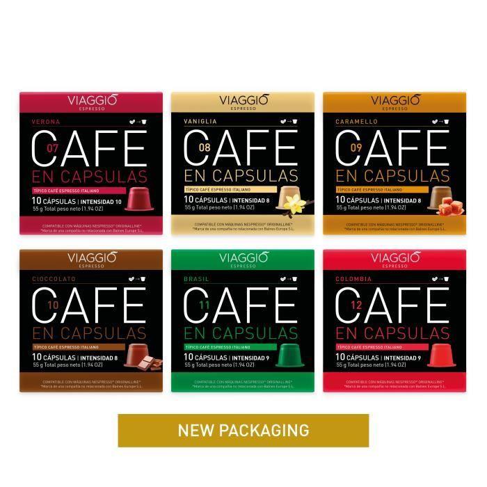 VIAGGIO ESPRESSO - 60 capsules de café compatibles avec Nespresso - SÉLECTION SPÉCIALE