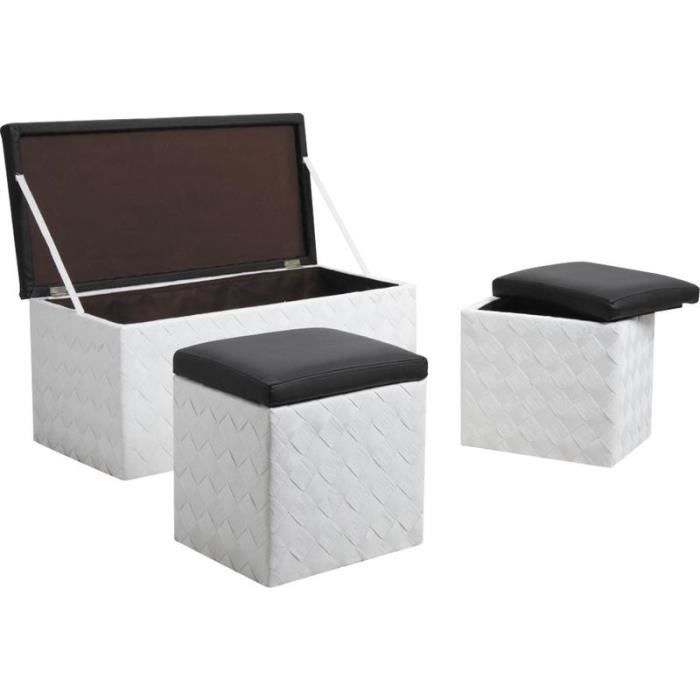 coffres poufs en corde et simili cuir achat vente pouf poire simili cdiscount. Black Bedroom Furniture Sets. Home Design Ideas
