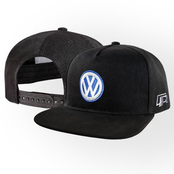 CASQUETTE VW Volkswagen R Casquette de Baseball Snapback Noi