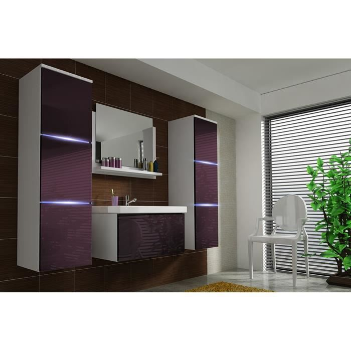 salle de bain modele lona violet gloss achat vente salle de bain complete salle de bain. Black Bedroom Furniture Sets. Home Design Ideas