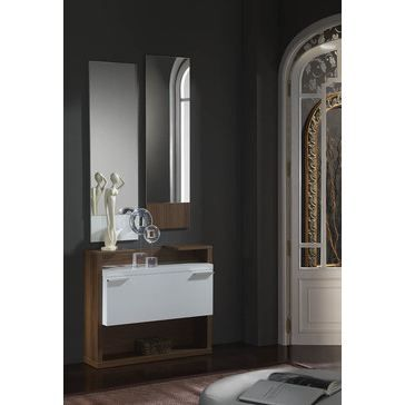 meuble d 39 entr e moderne avec miroirs anaelle achat vente meuble d 39 entr e meuble d 39 entr e. Black Bedroom Furniture Sets. Home Design Ideas