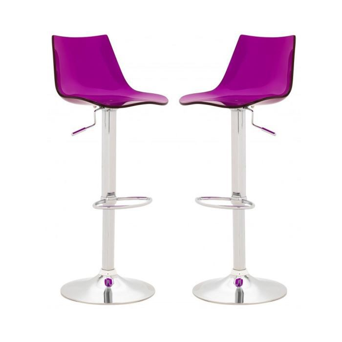 Excellent Chaise De Bar Violet With Table Et Chaises