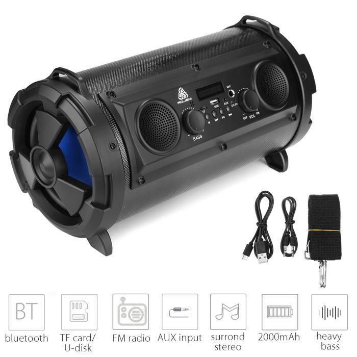 ENCEINTE NOMADE NEUFU Enceinte bluetooth Portable sans fil  LCD Su