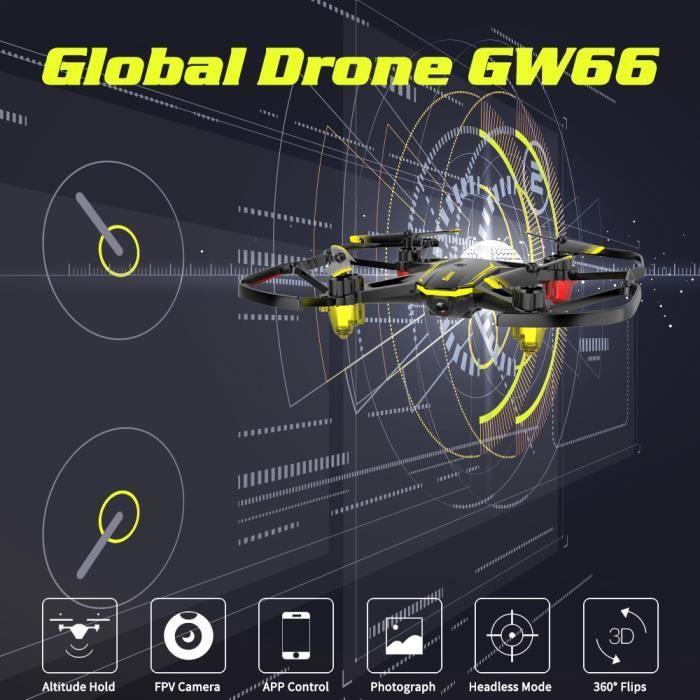 DRONE Anself GLOBAL DRONE GW66 Drone avec Caméra 480P Wi