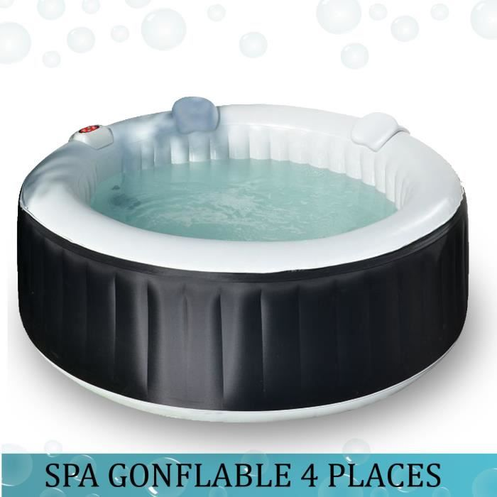 spa gonflable rond 185cm 4 personnes achat vente. Black Bedroom Furniture Sets. Home Design Ideas