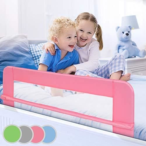 barri re de lit pour enfant 150 cm coloris au choix rose achat vente barri re de lit b b. Black Bedroom Furniture Sets. Home Design Ideas