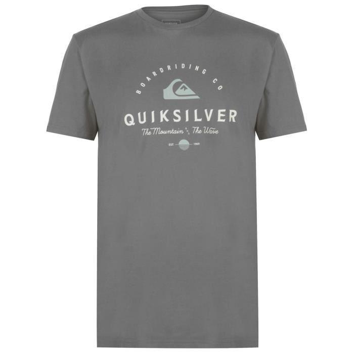 Quiksilver Working Man T-shirt col rond Imprimé Logo Hommes