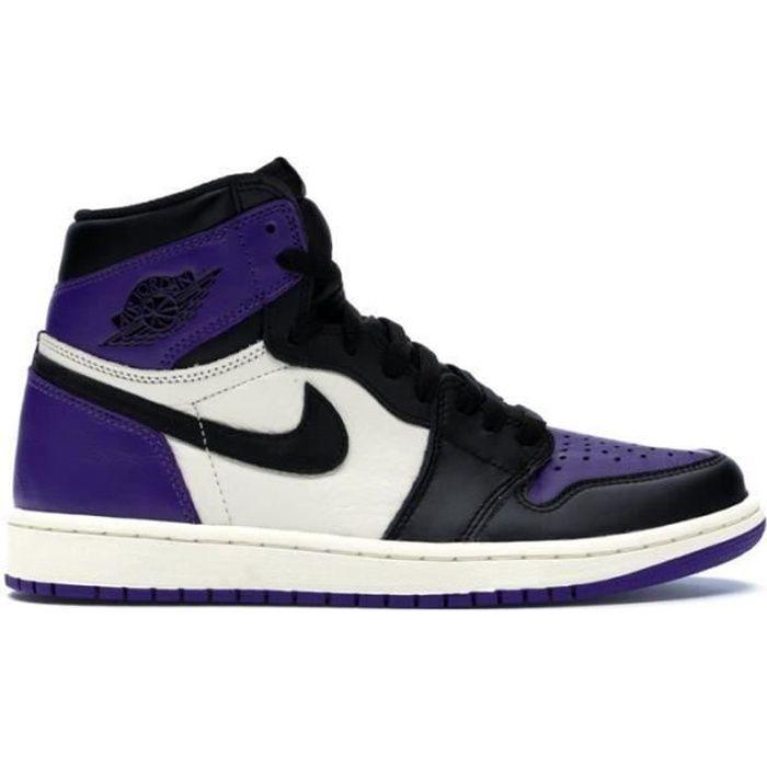 air jordan 1 low homme violet