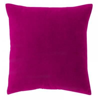 coussin 45 cm velours fushia achat vente coussin. Black Bedroom Furniture Sets. Home Design Ideas