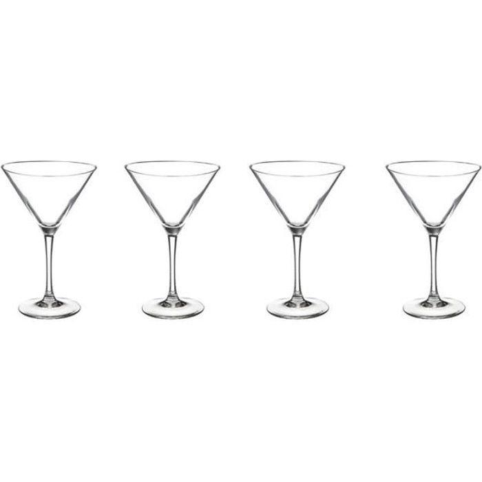 INNA-Glas Verre /à Cocktail /Ø 19,5cm 40cm Vase d/écoratif Vase /à Fleurs Verre /à Martini Sacha sur Pied Rond Conique Transparent