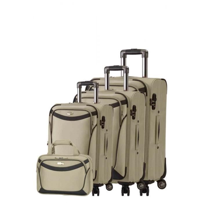 bagage snowball lot de 3 valise 1 vanity beige achat. Black Bedroom Furniture Sets. Home Design Ideas