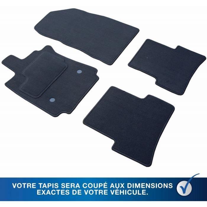 Velours Tapis De Sol convient pour OPEL ASTRA G COUPÉ 2001-2004 si - Noir 4tlg