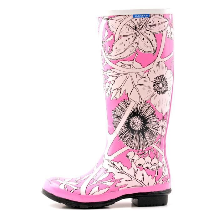 Tall Winter Flowers Wellies Rain Boots Q7E5Q Taille-38