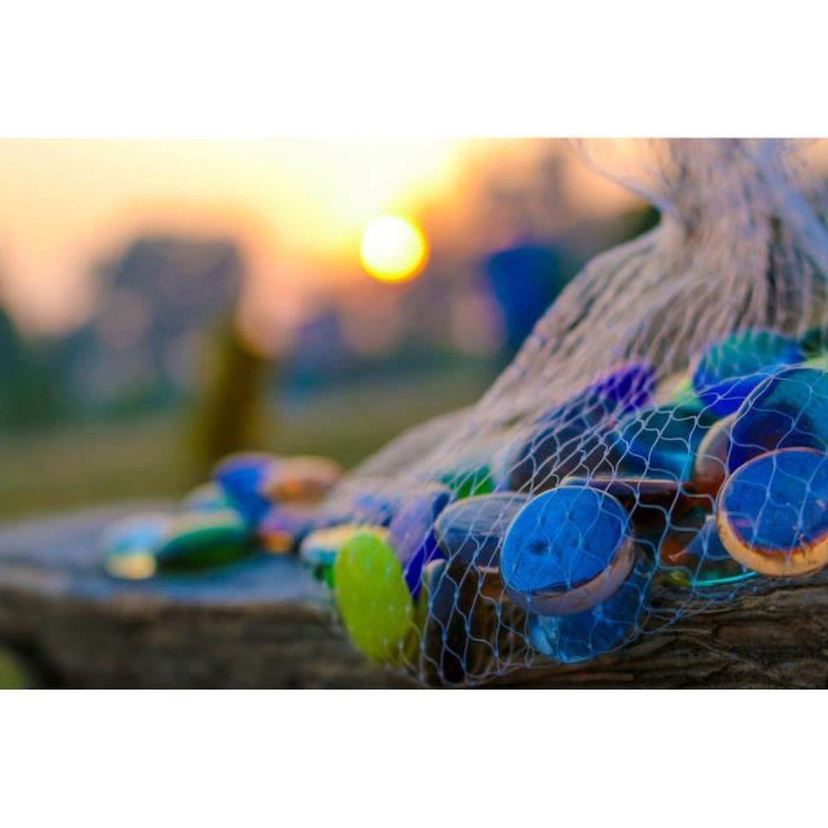 Quelle Colle Utiliser Pour Les Galets cailloux décoratifs galets en verre pierres billes pierres décoratives vase  de remplissage perles forme ronde 200pcs/1kg (mixte)