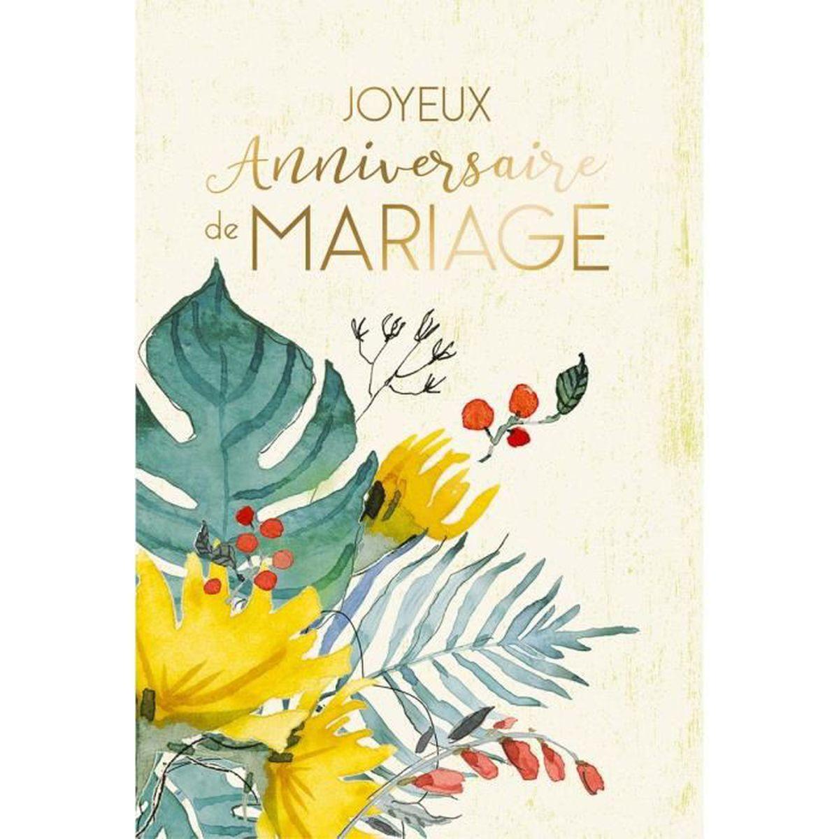 Carte Anniversaire De Mariage Achat Vente Carte Correspondance Carte Anniversaire De Mariage Cdiscount
