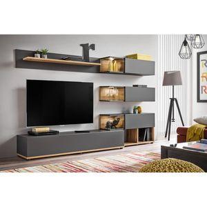 MEUBLE TV Meuble TV mural SILK coloris gris anthracite et bo