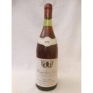 VIN ROUGE leynes francis crot rouge 1978 - beaujolais france