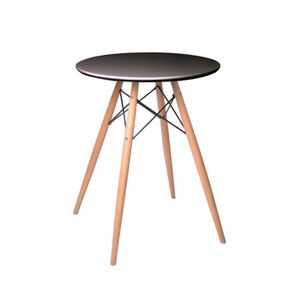 Table de cuisine ronde achat vente table de cuisine for Table ronde noire scandinave
