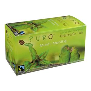 THÉ Puro Fairtrade Mint Sacs à thé vert menthe pack de