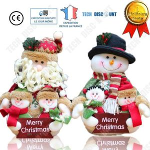 4 Mignon personnage Décorations pour arbres de Noël Santa Bonhomme De Neige Renne Ange de Noël
