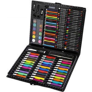 CRAYON DE COULEUR 150 Sets de Dessin,Malette de Coloriage Enfants Aq