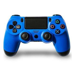 MANETTE JEUX VIDÉO Manette de jeu sans fil PS4 Bleu avec Sticker Auto
