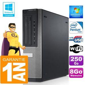 UNITÉ CENTRALE  PC DELL 7010 DT Intel G840 Ram 8Go Disque 250 Go W