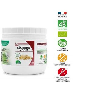 CHOLESTÉROL - TENSION Lecithine de soja granules pot de 200g