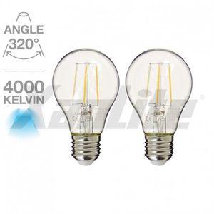 AMPOULE - LED Lot de 2 standard A60 RetroLed 470 Lm E27 Blanc ne