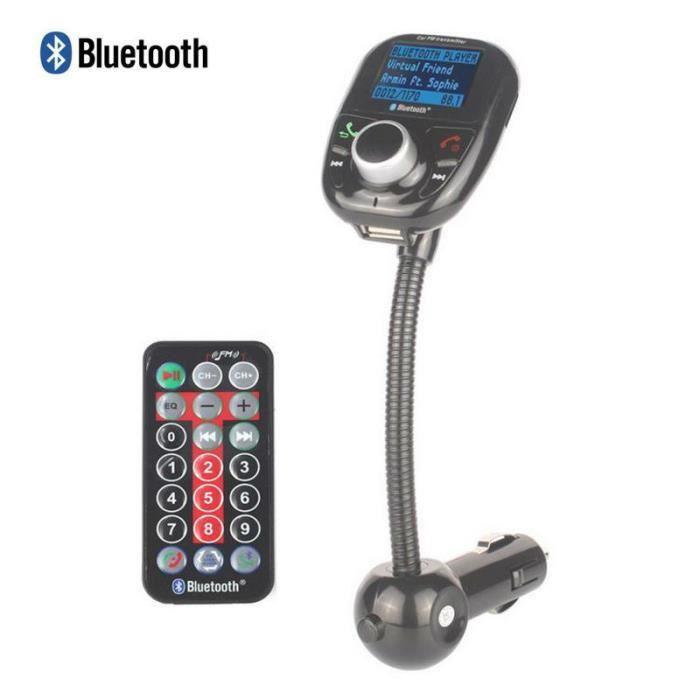 5 en 1 Affichage LCD kit voiture Bluetooth chargeur de voiture émetteur Bluetooth FM MP3 USB de haut-parleur mains libres
