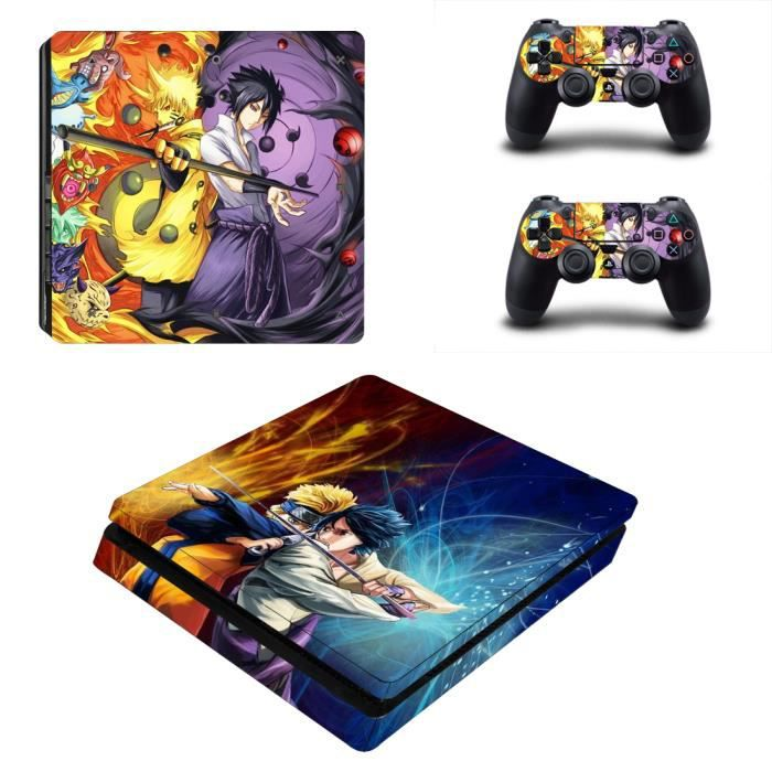 Naruto PS4 Slim Skin Vinyl autocollant Decal Sticker pour Sony Playstation 4 Slim Console + 2 Kits pour manettes