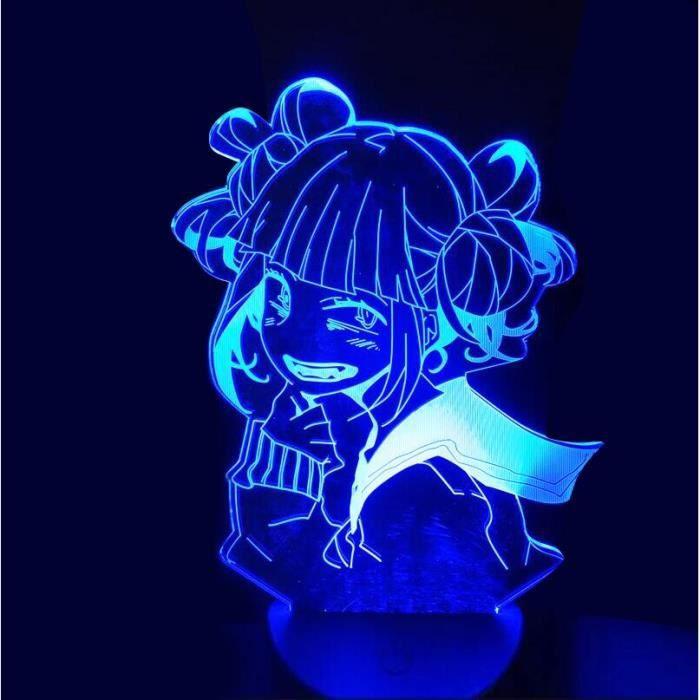 Lampe D'anime 3D Mon Héros Académique Himiko Toga Boku Aucun Héros Académique 16 Couleurs Avec Télécommande