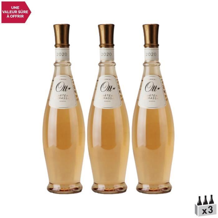 Bandol Château de Romassan Coeur de Grain Rosé 2020 - Lot de 3x75cl - Domaines OTT - Vin AOC Rosé de Provence - Cépages Cinsault, Gr