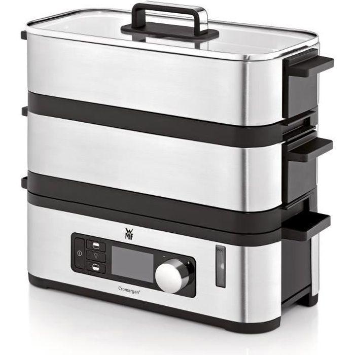 WMF 415090011 - KITCHENminis - Cuiseur Vapeur Inox - Deux étages avec programmes de cuisson