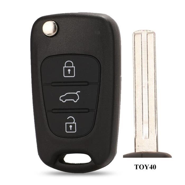 coque de clé télécommande pliable 3BTN, pour Kia Sportage K2 K5 Hyundai Ix35 IX30, Accent IX20, porte-clés étui [70A8C16]