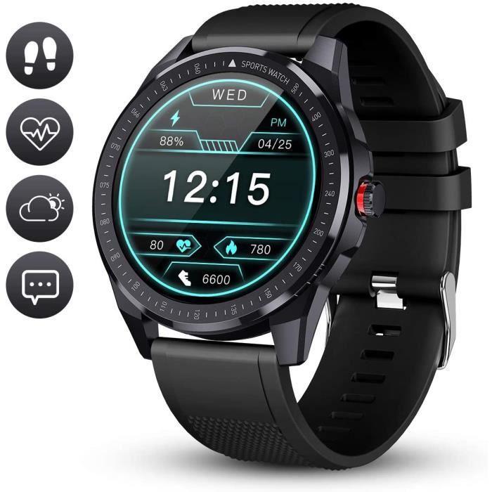 GOKOO Montre Connectée Homme Etanche Smartwatch Écran Tactile Montre Bracelet Connecté Cardio Sport Fitness Tracker d'Activité Calor