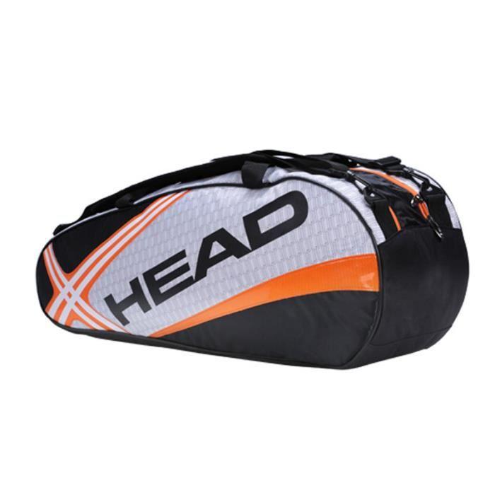 6-9 pièces de sac de raquette de tennis en nylon polyester sac à dos adulte sac de raquette de tennis de grande capacité