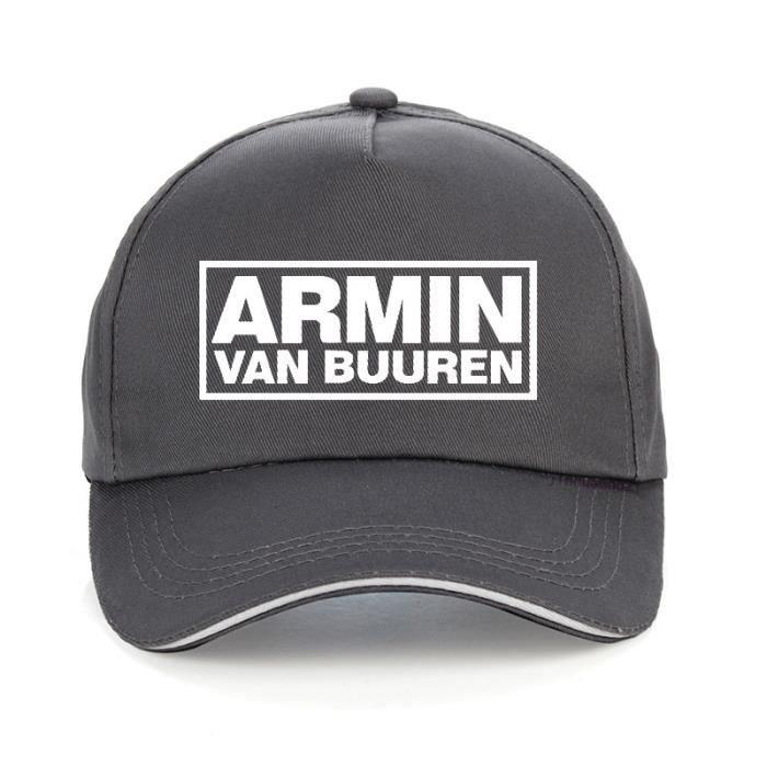 ARMIN VAN BUUREN casquette de baseball imprimée - ASOT HOUSE, musique, IBIZA RAVE DJ, chapeaux régla Gris