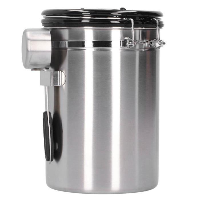ARAMOX récipient de stockage Récipient à grains de café avec soupape d'échappement Boîte de stockage de feuilles de thé pour