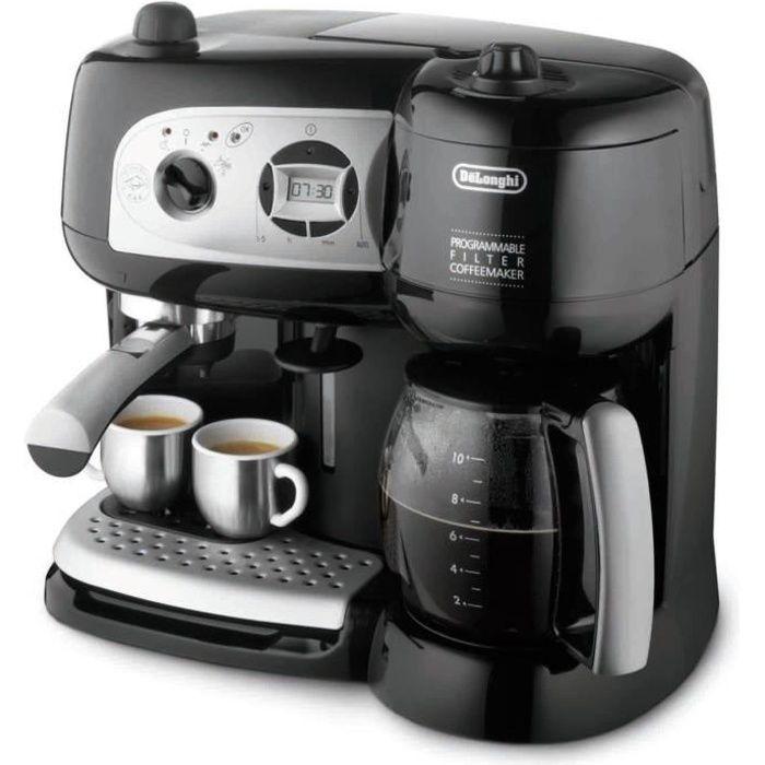 DELONGHI BCO 264.1 Combiné expresso cafetière - Noir