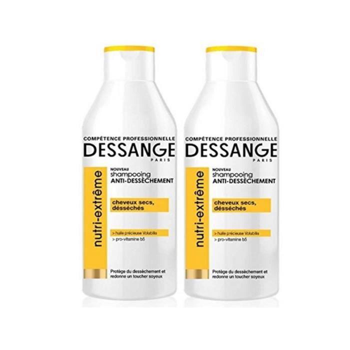 Dessange - Nutri-Extrême Shampooing Anti-Dessèchement Pour Cheuveux Secs ou Desséchés - 250 ml - lot de 2