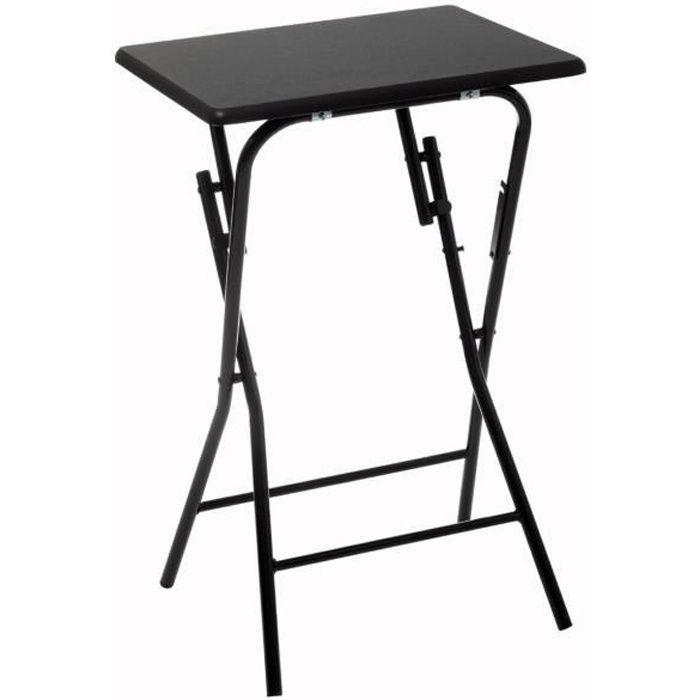 Five - Table d'appoint pliante noire en Bois et Métal H 64 cm Noir