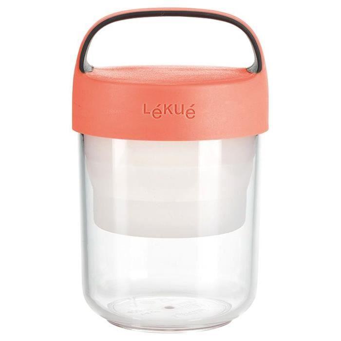Lékué Boite repas Jar to go 400 ml Rose - 8420460012641