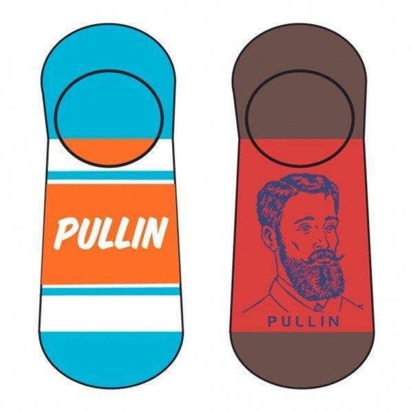 PULL IN Lot de 2 paires de Socquettes Adulte Coton BEBAR Orange Rouge