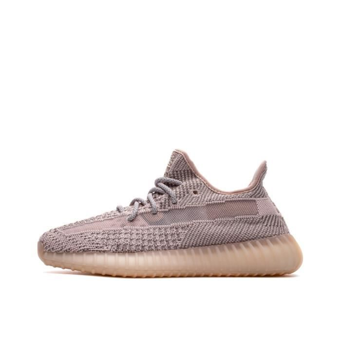 Basket Yezzy BOOST 350 V2 -SYNTH- Reflective FV5666 Chaussures de Running Homme Femme - Rose