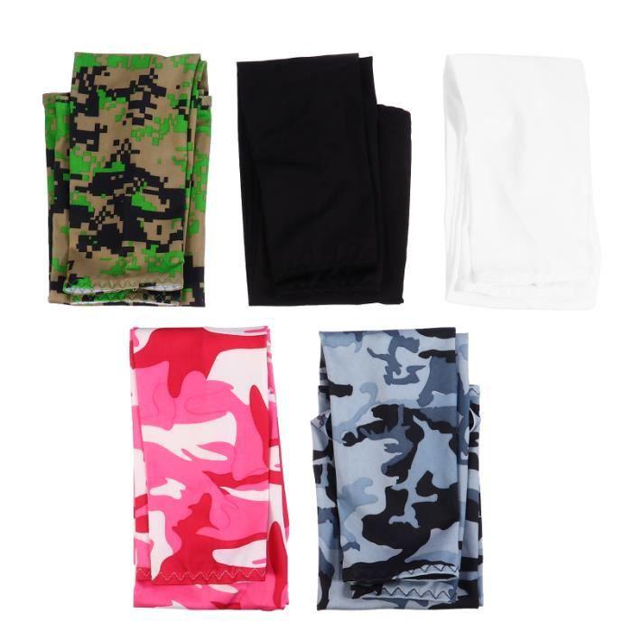 5 paires de manches solaires portatifs Créatifs Bras de protection pour veste de sport - cache-cŒur de sport textile technique