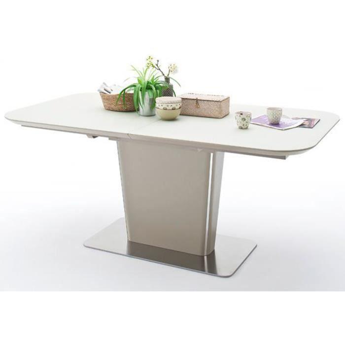 Table à manger extensible laqué taupe mat - 180-230 x 76 x 95 cm