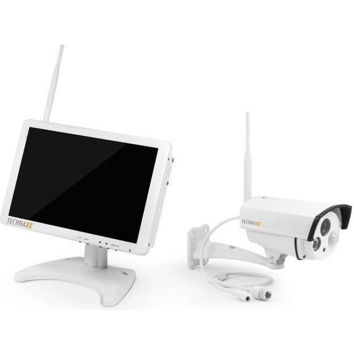 TECHNAXX Premium Security Kit de surveillance avec caméra IP extérieur et moniteur 10,1- TX-29