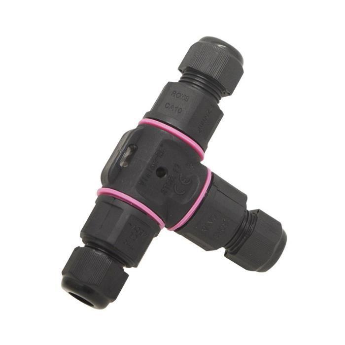 Vision-EL - Connecteur étanche forme T - IP68 450V noir