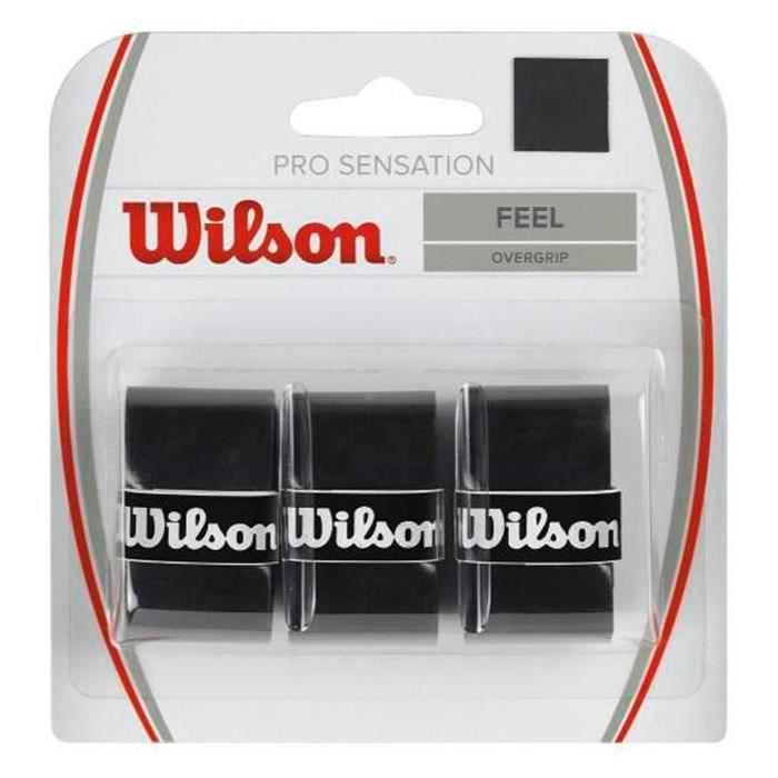 Surgrips Wilson Pro Sensation Overgrip Noir x 3